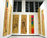 Rubber, ink (installation view)