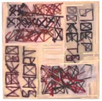 "Digital print on wood (15"" x 15"")"