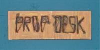"Digital print on wood (6"" x 18"")"